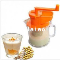 Wholesale Retail pc Grinder Soya Soy Soybean Milk Bean Mung Grain Hand Operate Shake Manual Maker Machine Handle