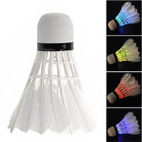 Wholesale Pieces New Dark Night LED Badminton Shuttlecock Birdies Lighting