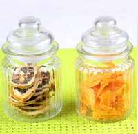 Wholesale Glass Sealed Canister Transparent Cruet Condiment Bottles Tea caddy Candy Jar Storage Bin