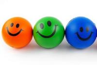 Wholesale Smiley PU ocean ball Sponge balls Suitable for baby bath toy Multicolor cm g