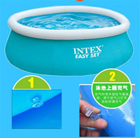 Wholesale Hayi Supply INTEX Pools Inflatable Swimming Pool Round Retail package inches inches free Air Pump Swimming Ring