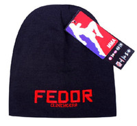 Wholesale man hats Fedor Clinch Gear Black elastic type knitting wool skiing cap M025