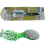 Wholesale New plastic foot brush four functions a grinding stone feet peeling tool brush rubbing the soles of the feet t5539