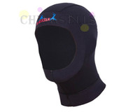 Wholesale free ship prevention jellyfish sunscreen UV diving hood cap neoprene diving cap winter swimming cap hat hood mm