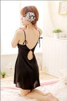 bathrobe prices - Sexy Lingerie Women s black gallus sleepwear dress bathrobe clubwear hot dance perform clothing factory price QQ26