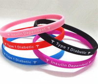 Unisex Party Silicone 1Type 1Diabetic 500pcs Insulin Dependent 5 Colors Jelly Brecelets Boy Girl Sports Wristbands