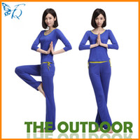 Wholesale Workout Clothes Set Women Long Sleeve Size Blue Tops Pants Casual Elasticity Slim Casual Clothes