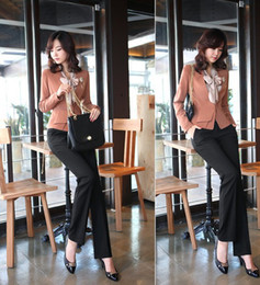 Spring and summer women's career -iron Slim Straight waist pants suit pants big yards