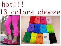 Wholesale 30pcs baby girl legging kids candy color lace leggings girl fashion summer tights cute dress socks D