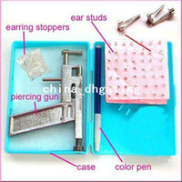 Wholesale Durable Strong Steel Ear Body Piercing Gun Studs Machine Kit Set