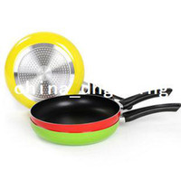 Wholesale 26cm Non stick Frying Pan Aluminum Alloy Material Teflon Coating Inside Inductiion amp Gas Color