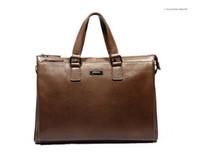 Wholesale handbag men genuine cowhide leather shoulder messenger bag men fashion business briefcase designer tote male bag horizontal