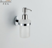 Wholesale Soap Dispenser Lotion Dispenser Brass base with Chrome finish Frosted glass container Bathroom Hardware