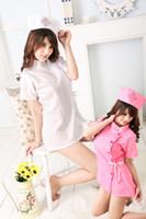 Wholesale Uniform temptation Sexy Lingerie perform nurse role clothing lady women s home sleepwear factory price set QQ29