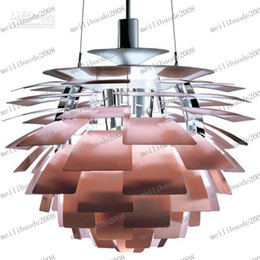 2017 pendentifs en argent LLFA26 Dia 38/48 / 60 / 72cm blanc / rose chaud / Argent / Or / Cuivre Poul Henningsen PH plafond Artichaut Light Lamp Lighting droplight bon marché pendentifs en argent
