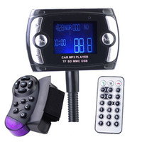 Wholesale 1 quot LCD Car Kit MP3 Player with Bluetooth FM Transmitter Modulator USB SD MMC TF Support Black
