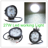 Wholesale 27W LED Lumin lm Aluminium alloy Work Light Fog Light for Jeep SUV ATV Off road Truck