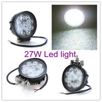Wholesale 2PCS ROUND W Flood Beam Offroad LED Work Light Truck Boat Camping DC V V LED Worklight Off Road Round Driving Working Lamp
