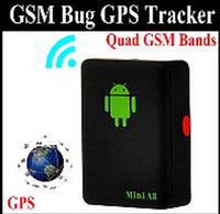 Wholesale Mini A8 Quad Band GSM GPRS GPS Tracker LBS Location Based Service Tracker Audio Bug Monitor with Sound control Dialing SOS Bla