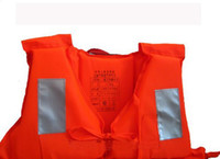 Wholesale Bulk Whoesale Professional Orange Foam Swimming Life Jacket with Whistle Drop shipping