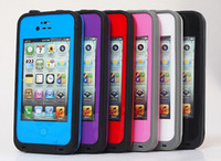 Wholesale 2013 new Waterproof Case iPhone iphone4 s colors AAAAAA Quality DHL shipping