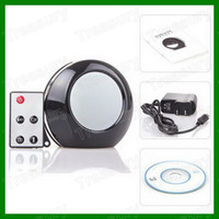 None   V8 HD Mirror Spy Alarm Clock 140 Degree Pinhole Mini DVR Video Camera Mirror Clock Camera 1280*960 In Black