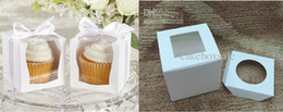 Wholesale Hot cm pvc window cake box with insert single Cupcake Boxes