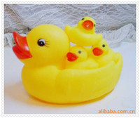 Bath Toys Animals Baby Baby Kids Bathe Duck Toys Non-Toxic Rubber Toys sound duck with