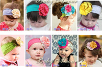 beautiful colorful flowers - Beautiful colors BABY AMOUR flower cotton Headband Baby head band Colorful Baby hairband Headbands styles