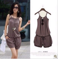 Sleeveless Mini Shorts 2013 Women Fashion Sexy Sleeveless Romper Strap Short Jumpsuit Casual Jump suit pants, fast shipping