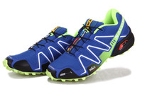 Wholesale Top quality Salomon speedcross blue Men s Running shoes Mens Sport shoes Sneakers