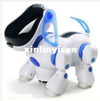 Wholesale Hotsale Educational toys universal wheels music baby intelligent dog child electric dog toy robot dog