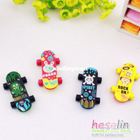 Wholesale Korea Cartoon Rubber Eraser Cute Skateboard