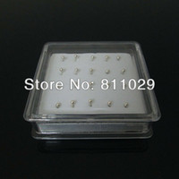 Wholesale 100pcs silver nose stud mm ball piercing nose ring