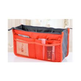 Wholesale Travel Insert Handbag Organiser Purse Large liner Organizer Bag Amazing Orange