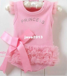 Wholesale Cheap Newborn Clothes For Girl - Free shipping Summer Fashion Baby Girls pink cake tutu dress clothes for newborns cheap retail