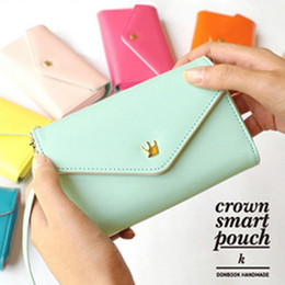 Wholesale CROWN Smart Pouch K Multi Case Lovely colors smart phone case holders