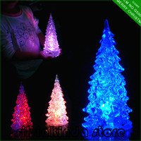 desktop decoration acrylic top table - 27cm color changing ice acrylic holiday LED battery operated color changing desk table top decor christmas Tree Light brand new Ornaments