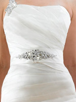 Wholesale Hot sale Cheap dazzling crystal beaded wedding accessory bridal wedding belts wedding sash band B