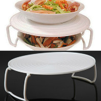 Wholesale Multifunction Handle Microwave Steaming Rack Prevent Slippery Folding Potholder Kitchen Tools