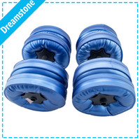 Wholesale New Fashional Water Poured Dumbbells pairs have RoHS approval EMS