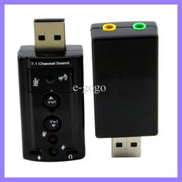 USB 2.0 externe Carte son 7.1 canaux 3D adaptateur de carte Virtual Sound Audio Son adaptateur externe 7.1 canaux
