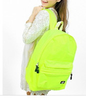 Wholesale 2014 new New fluorescent yellow green alien UFO shoulder bag outdoor travel bag schoolbag