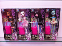 3-4 Years best suitcases - Best sale High quality Monster high dolls Joint optional activity suitcase doll in window box packaging