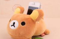 Wholesale Min Order Plush Stuffed Toy DOLL Rilakkuma Bear Cellphone Holder Case Mobile Phone Holder Case Car Holders Pouch Bag