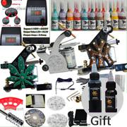 3 Guns Professional Kit Professional tattoo kits USA Dispatch Professional complete cheap tattoo kits 3 guns machines 20 ink sets equipment free shipping D92+Free 2 Bottles dragonhaw Ink