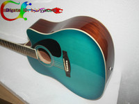 Sky Blue Hollow Guitar Brand New OEM Custom Guitars YA blue Guitar 41#Acoustic guitar Free shipping High Cheap