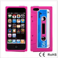 Wholesale Cassette Tape Silicone Case for apple for iphone s protector cover soft Protective Retro