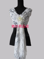 Wrap Lace Elbow 2013 New Fashion Sexy Lace Red White Ivory Wedding Wraps Bridal Wrap Shawl Cape Bolero Jacket With Free A Big Flower