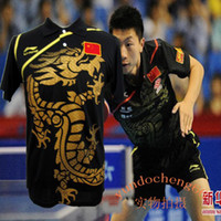 Wholesale Li Ning Man s London Olympic Games T Shirt Chinese national flag Table Tennis Ping Pong